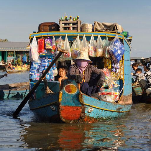 Камбоджа, озеро Тонлесап.