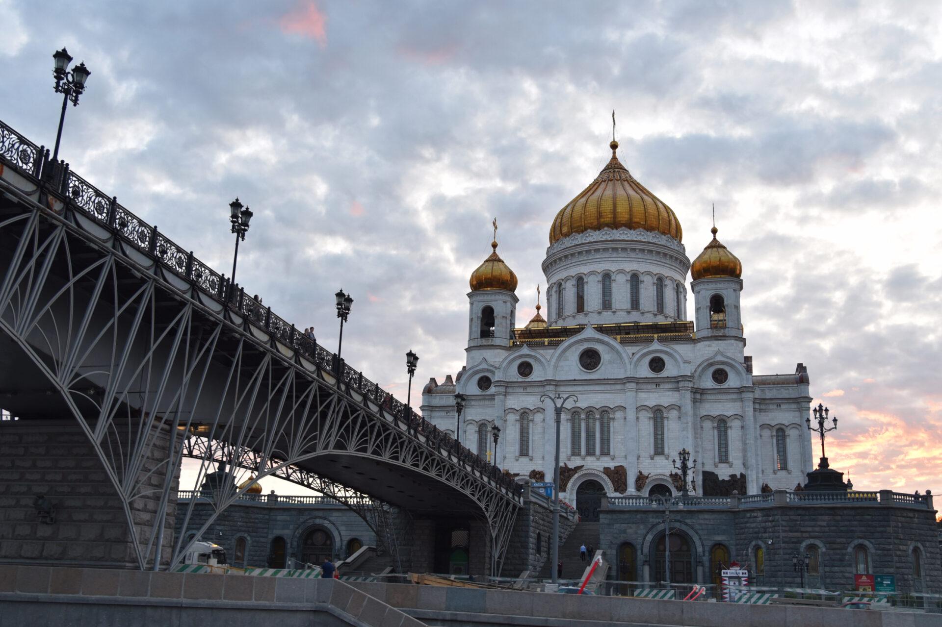 Москва закатная. Тест нового аппарата.