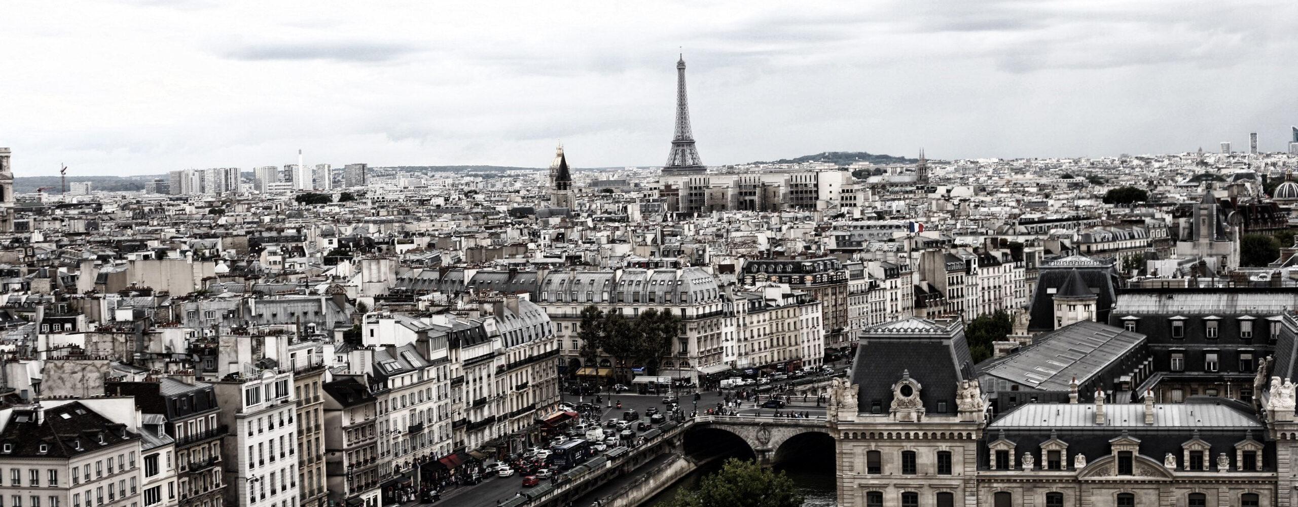 Париж. Эйфелева башня исобор Нотр Дам.