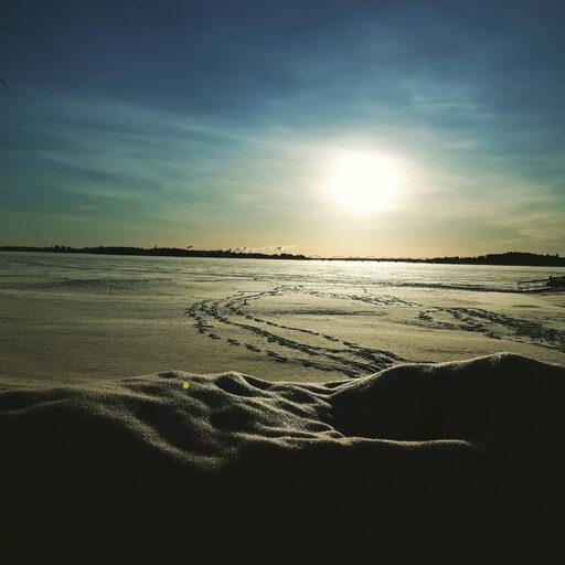 Возвращение в Швецию. Водопад Стурфоршен зимой.
