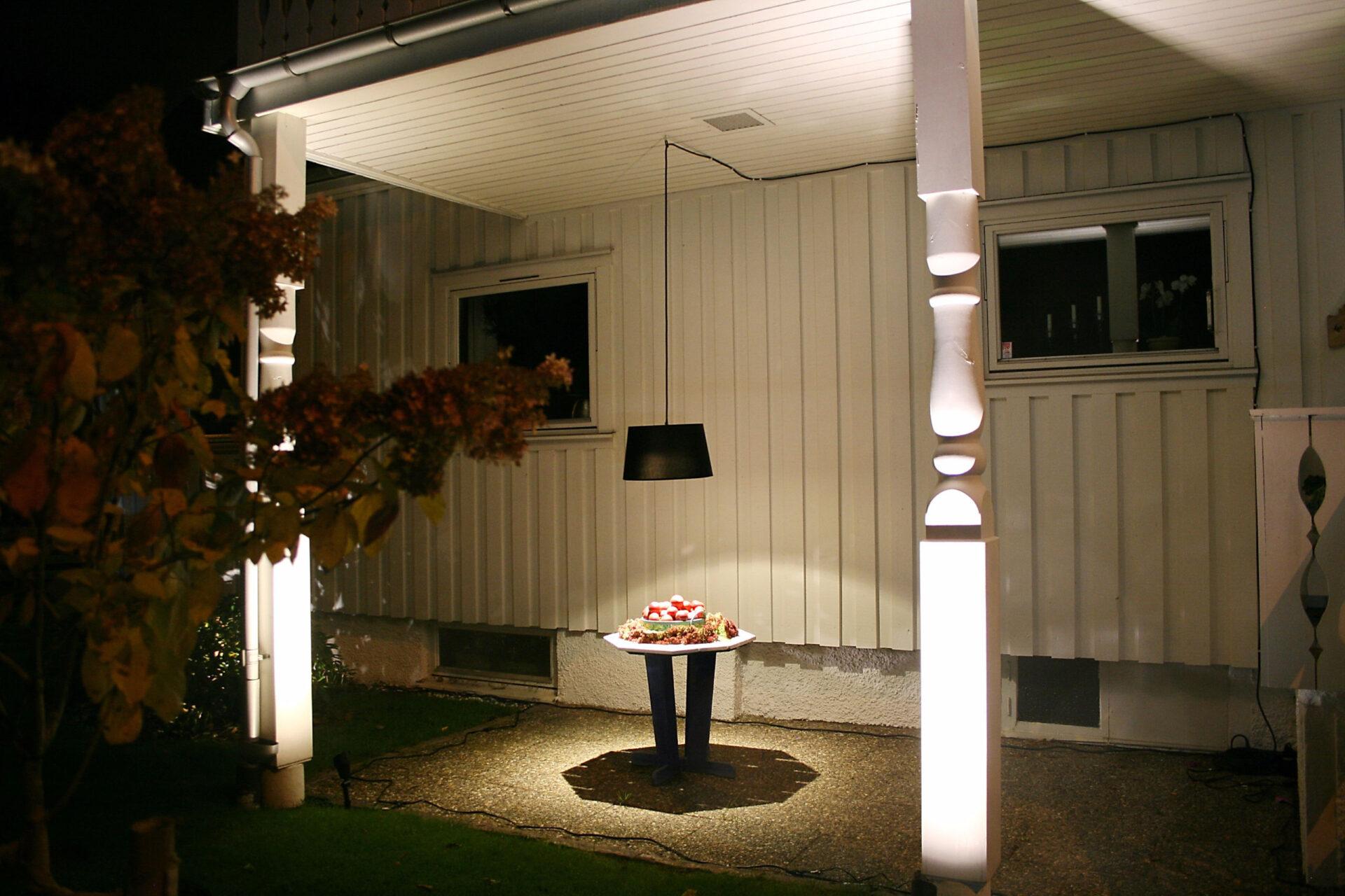 Световая инсталляция вАлингсос. Швеция.