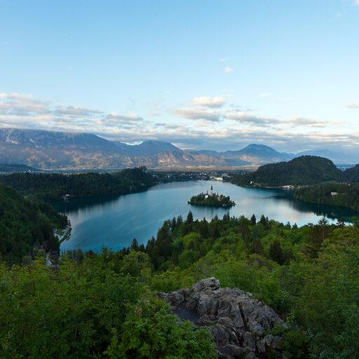 Словения. Любляна, озеро Блед.